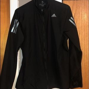 Adidas black flee light windbreaker